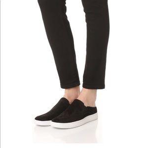 VINCE Verrell suede open back sneakers black 8.5M